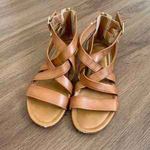 Jessica Simpson Strappy Brown Sandals